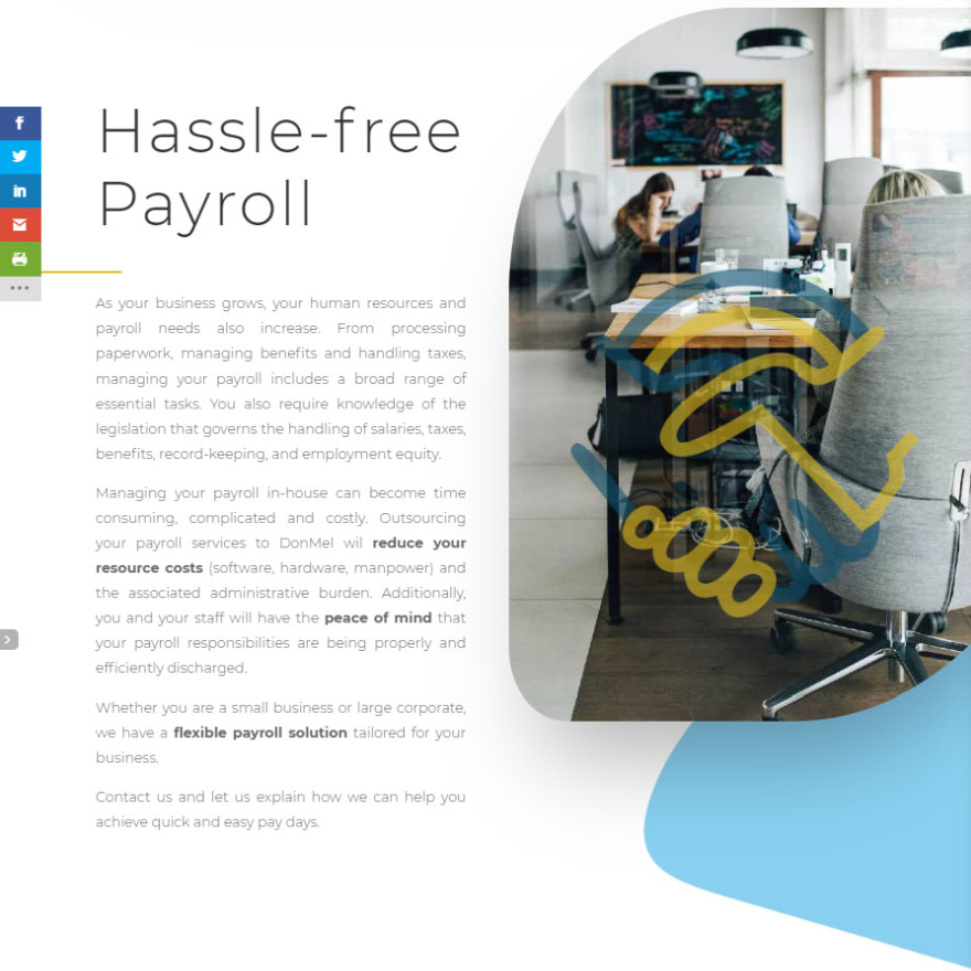 DonMel Payroll Solutions About Payroll Section