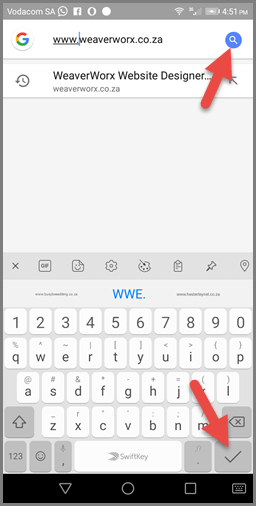 Bookmarking on Opera (Android) - Address bar