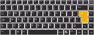 Keyboard Enter key