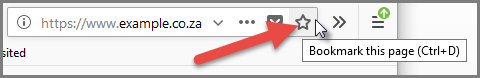 Bookmarking your website - Firefox Bookmark Star