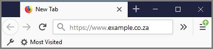 Bookmarking your website - Mozilla Firefox address bar
