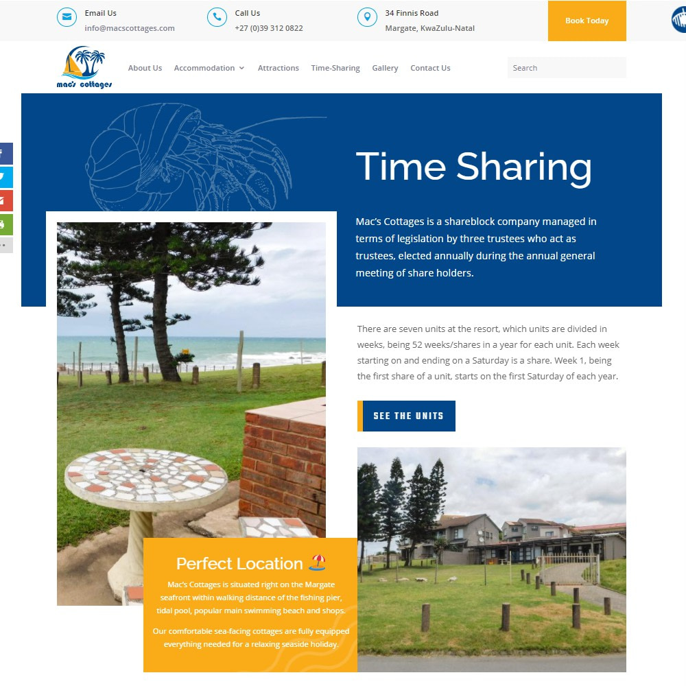 Macs Cottages Timesharing Page