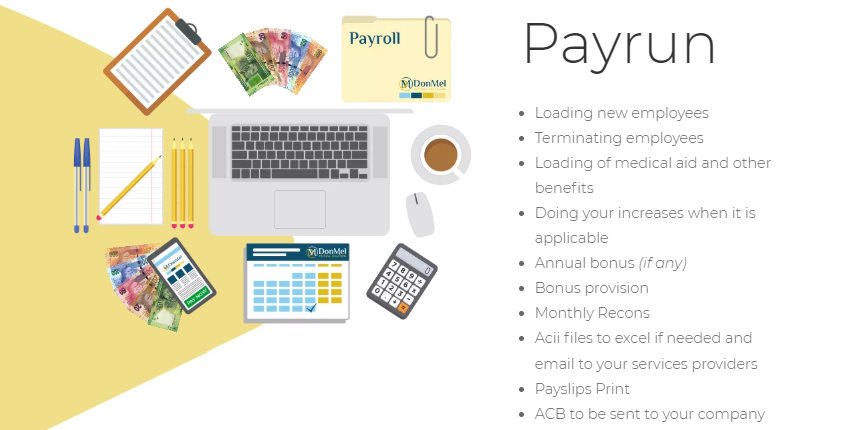DonMel Payroll Solutions Payrun Services Section