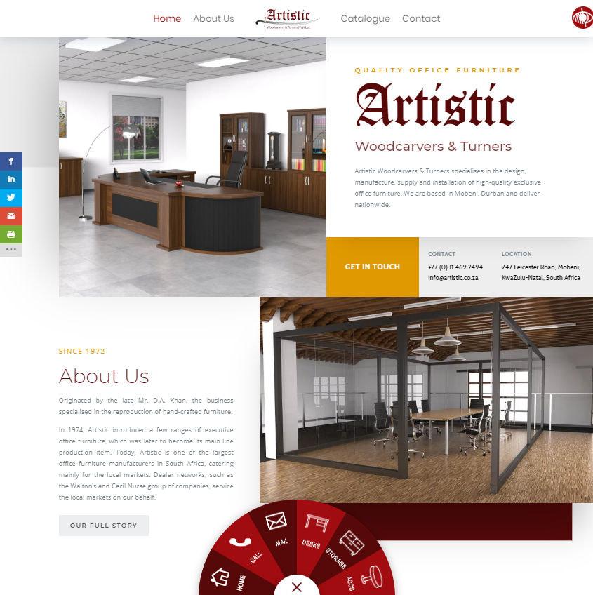 Artistic Woodcarvers & Turners Website Homepage