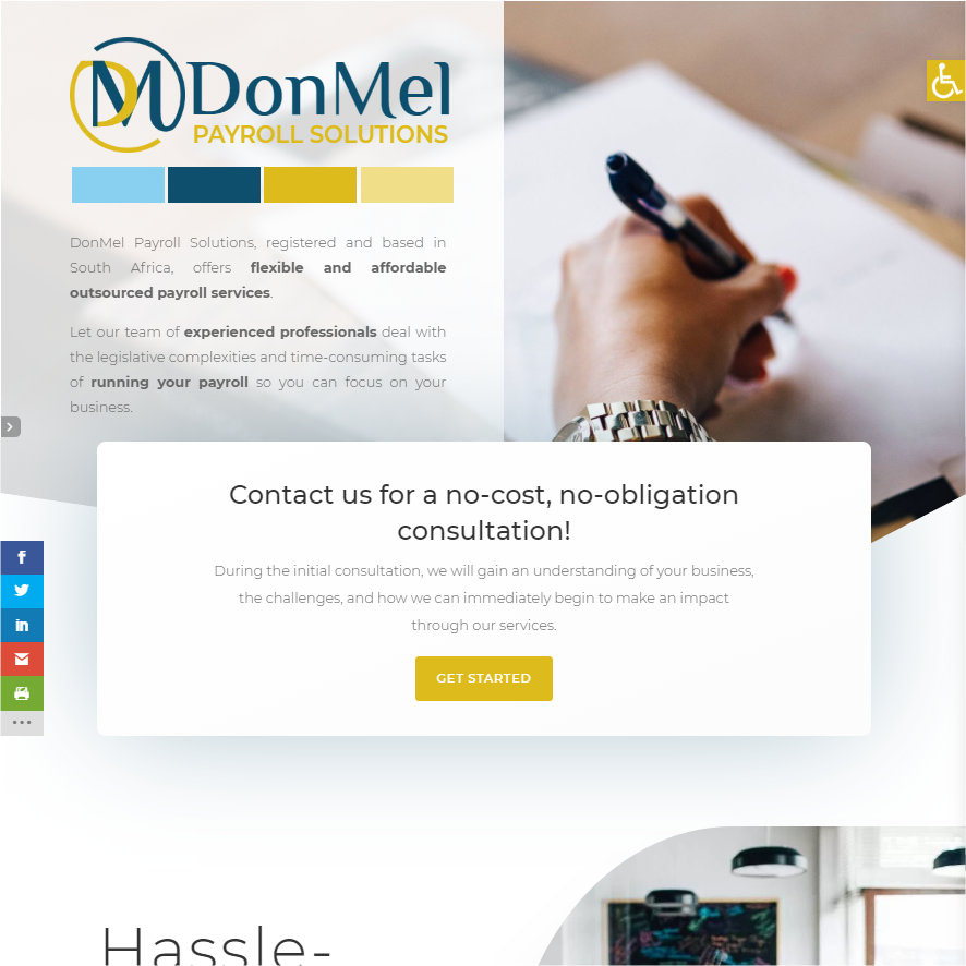 DonMel Payroll Solutions homepage