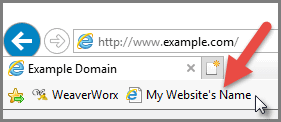 Bookmarking your website - IE using your Bookmark