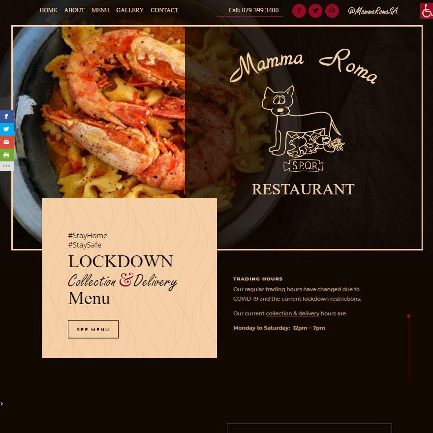 Mamma Roma homepage